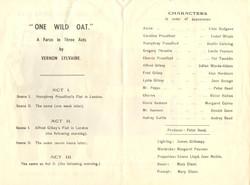 1961 Riding Mill Drama Club, One Wild Oa