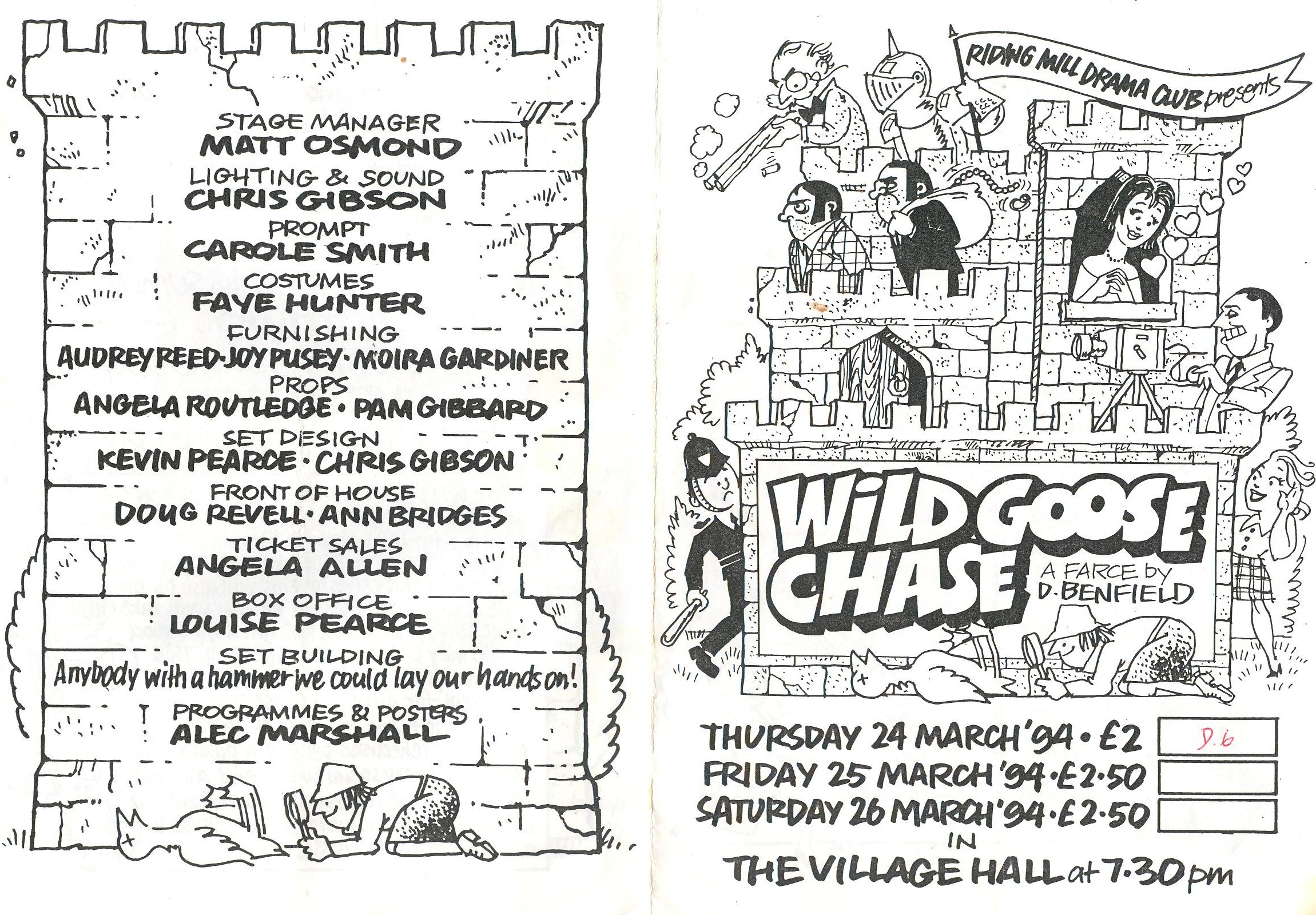 1994 Riding Mill Drama Club, Wild Goose