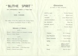 1954 Riding Mill Drama Club, Blithe Spir