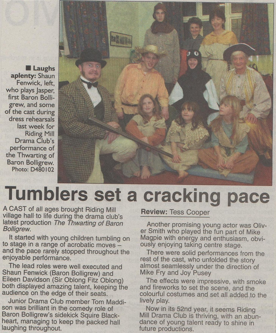 2001, Riding Mill Drama Club, The Thwart
