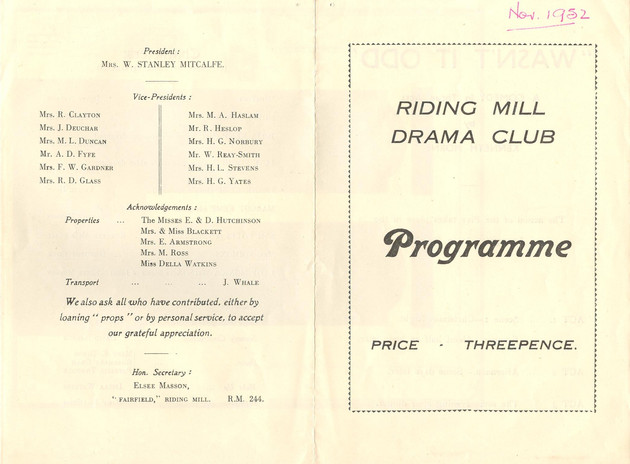 1952 Riding Mill Drama Club, Wasn't it Odd, Nov (3).jpg