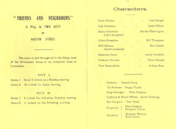 1964 Riding Mill Drama Club, Friends and