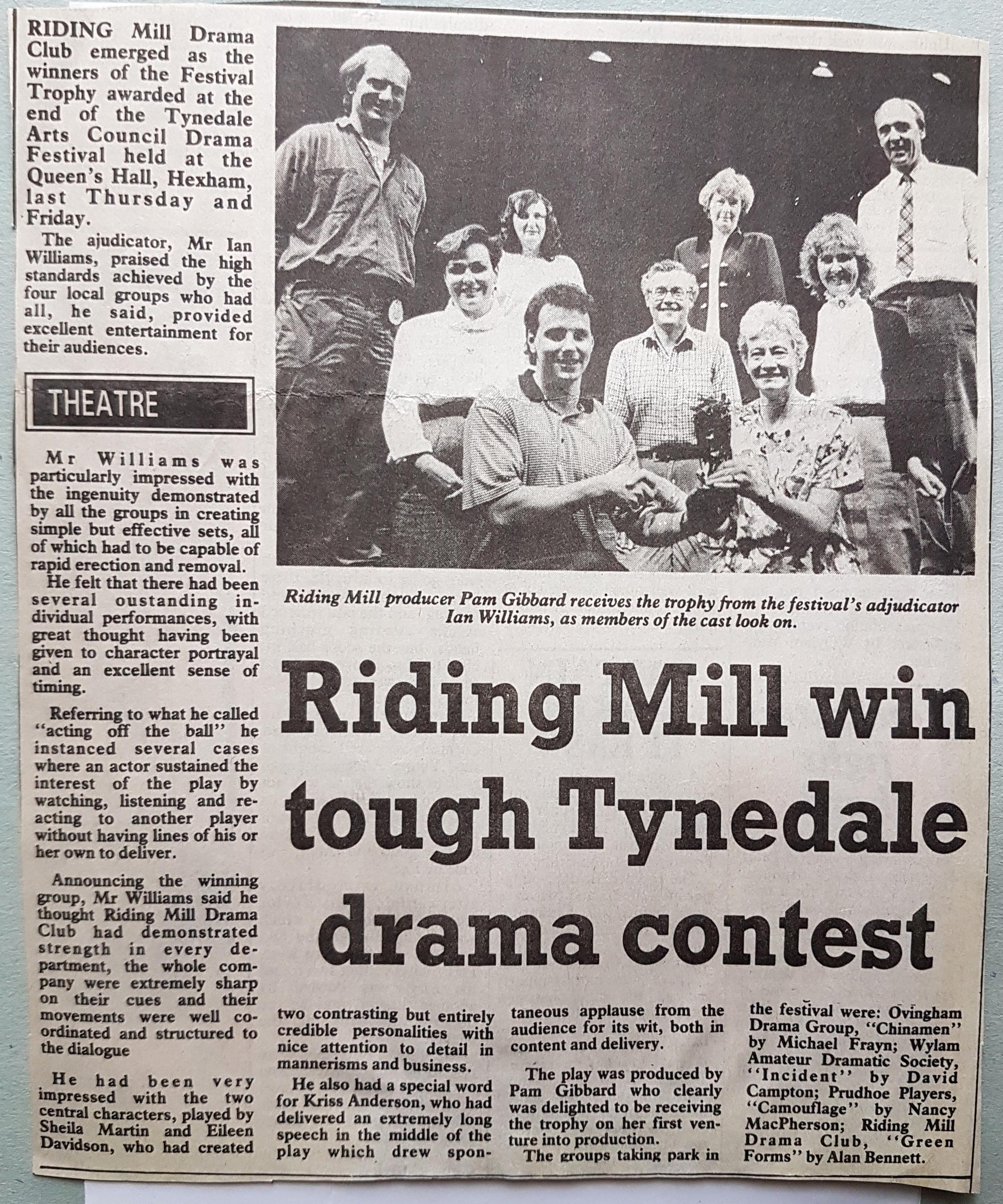1992 Tynedale Drama Festival May