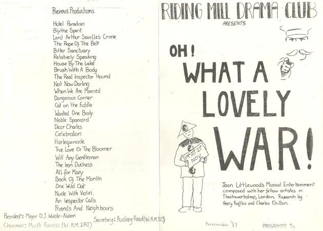 1981 Riding Mill Drama Club, Oh What a Lovely War, Nov (3).jpg