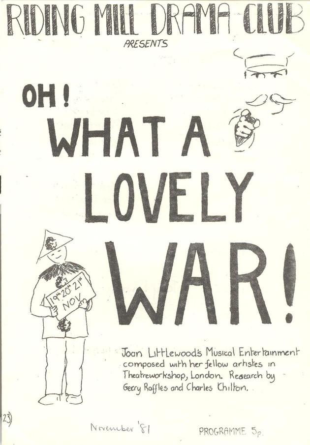 1981 Riding Mill Drama Club, Oh What a Lovely War, Nov (1).jpg
