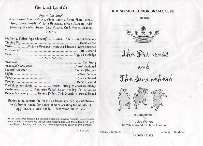 2001 Riding Mill Junior Drama Club, The