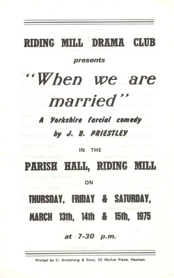 1975 Riding Mill Drama Club, When we are