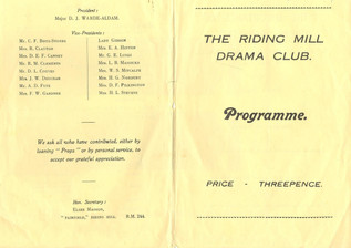 1955 Riding Mill Drama Club, The Importa