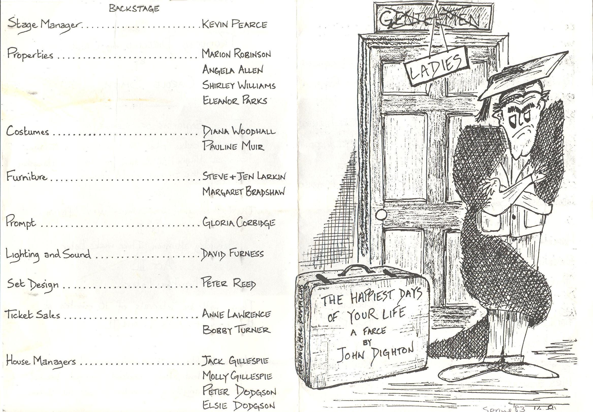 1983 Riding Mill Drama Club, The Happies