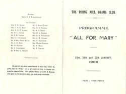 1968 Riding Mill Drama Club, All for Mar