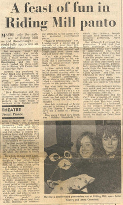 1974 Riding Mill Drama Club, Dick Routli