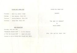 1984, Riding Mill Drama Club, The Edge o