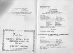 1978, Riding Mill Drama Club, Area Drama