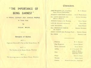 1955 Riding Mill Drama Club, The Importa