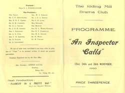 1960 Riding Mill Drama Club, An Inspecto