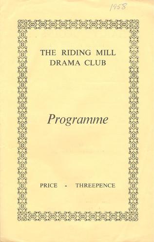 1958, Riding Mill Drama Club, Charity Be