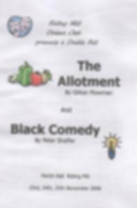 2006, Riding Mill Drama Club, The Allotm