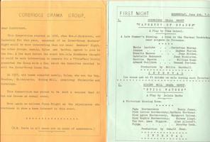 1958 Riding Mill Drama Club, Corbridge D