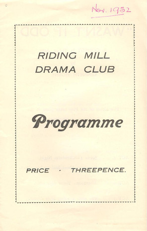 1952 Riding Mill Drama Club, Wasn't it Odd, Nov (1).jpg