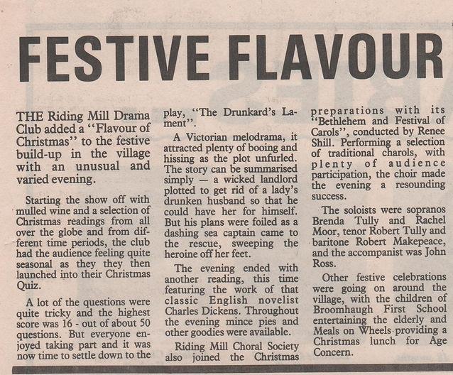 1993. Riding Mill Drama Club, The Flavou