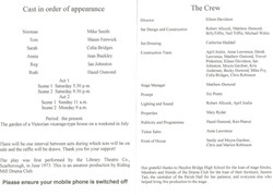 2007 Riding Mill Drama Club, Round and R
