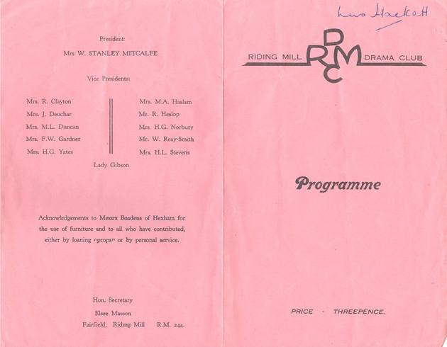 1953 Riding Mill Drama Club, The Paper Chain, Nov (3).jpg