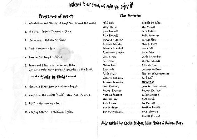 2000 The Riding Millennium Show Prog fro