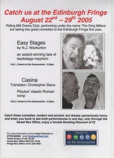 2005, The Ding Millers in Edinburgh,  Ea
