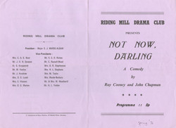 1976, Riding Mill Drama Club, Not Now Da