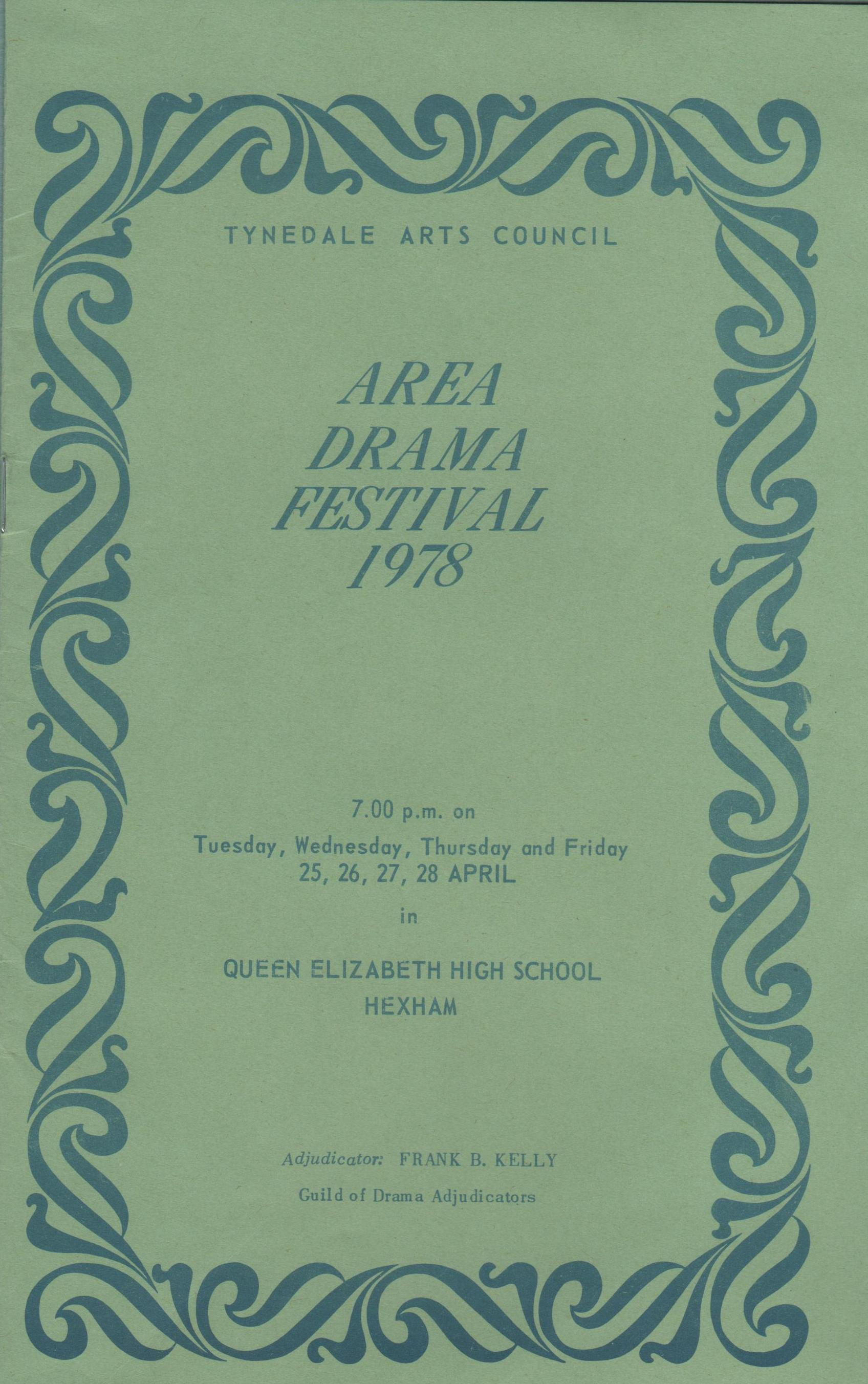 1978, Riding Mill Drama Club, Area Drama