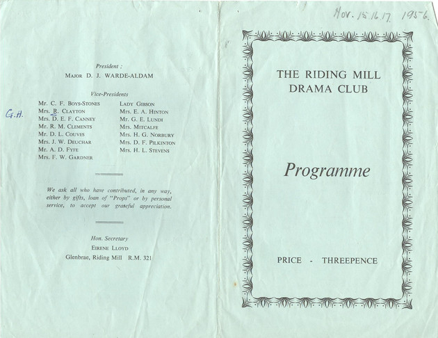 1956 Riding Mill Drama Club, Suspect, No