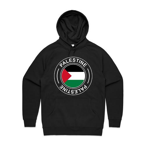 Palestine Flag Round Logo Unisex Hoodie