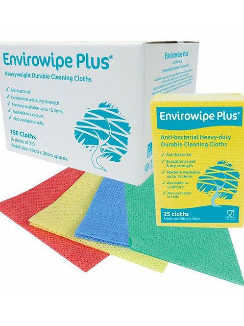 Envirowipe Plus Folded Cloths 4 COLOURS