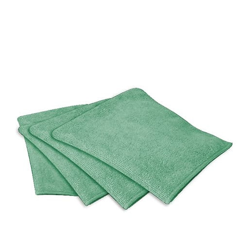 Microglass Microfibre Cloths 40cm x 40cm Green