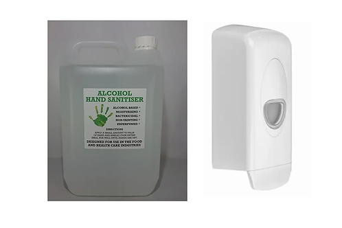 5 Litre Hand Sanitiser & Dispenser (75% Alcohol)