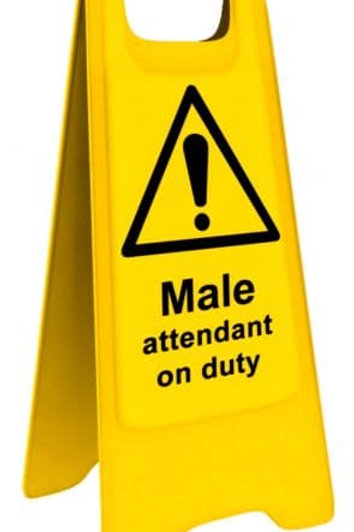 Male/Female Attendant Floor Sign
