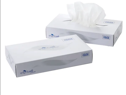 1 case of 36 Boxes Of Cloudsoft White Family Tissue