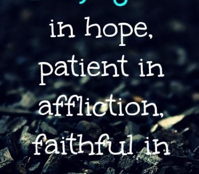 Priorities Give Patient Endurance
