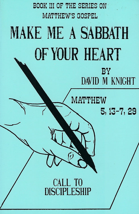 Make Me A Sabbath Of Your Heart (Matthew Series Book 3)(PDF Download)
