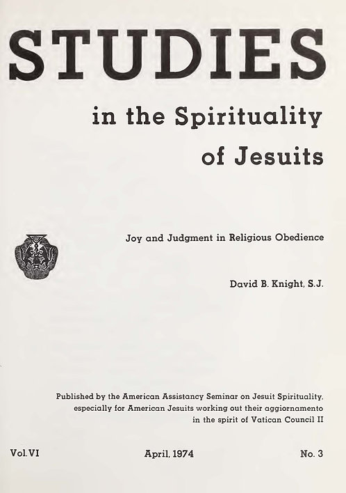Joy and Judgment in Religious Obedience (Studies in Spirituality of Jesuits)