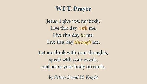 WIT Prayer (Business Card Size)