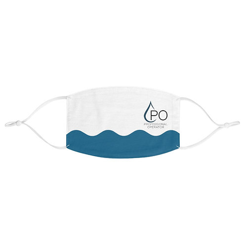Fabric PO Logo and Wave Face Mask