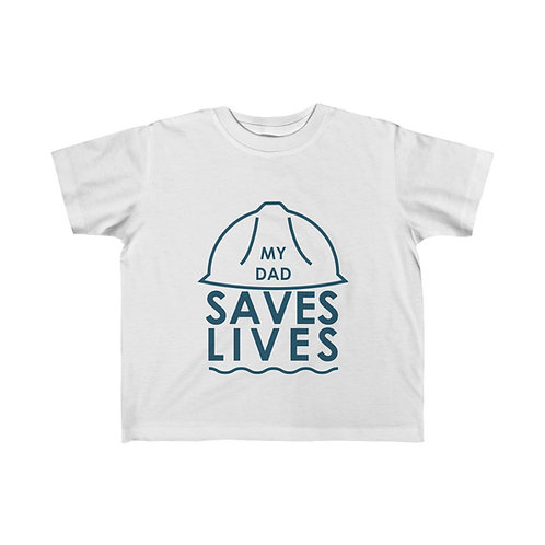 """My Dad Saves Lives"" Kid's Fine Jersey Tee"