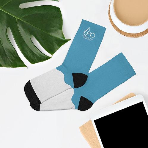 Wave PO Logo Socks