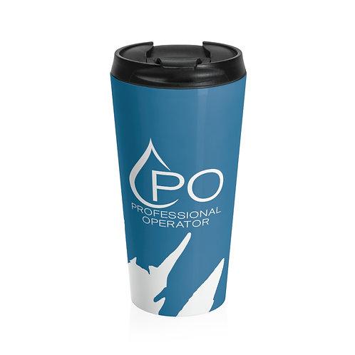 Stainless Steel PO Logo Splash Travel Mug