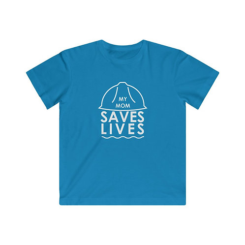 """My Mom Saves Lives"" Youth Fine Jersey Tee"
