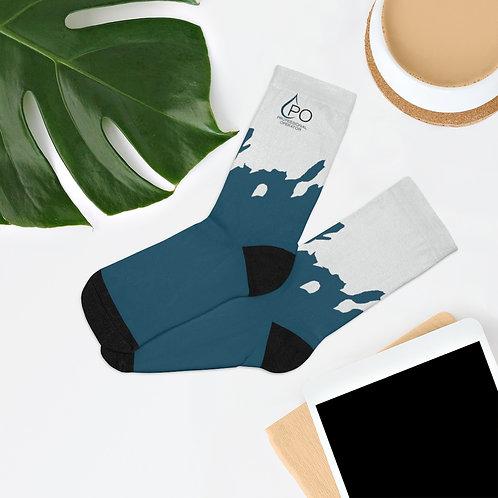 PO Logo Splash Socks