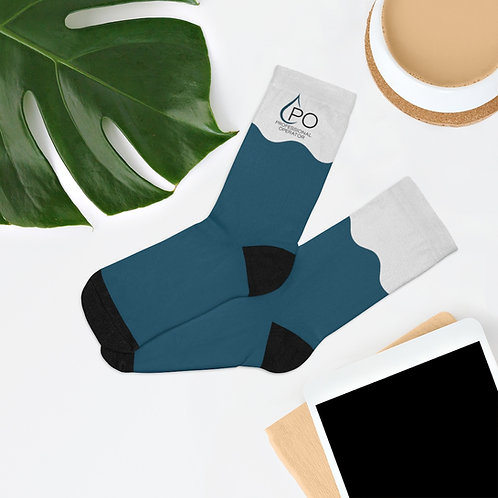 Wave PO Logo Socks Dark Blue