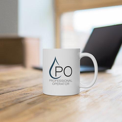 White Ceramic PO Logo Mug