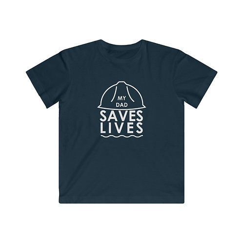 """""""My Dad Saves Lives"""" Youth Fine Jersey Tee"""